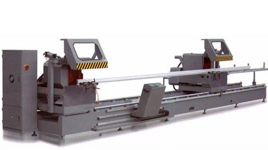 KT-383F-D 3軸自動タイプCNCダブルミタイソーアルミカッティングマシン