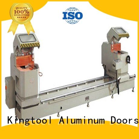 Custom aluminium cutting machine thermalbreak mitre 3axis kingtool aluminium machinery
