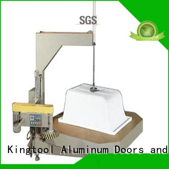 kingtool aluminium machinery Brand edge trimming sanitary profile cutting machine digital turntable type