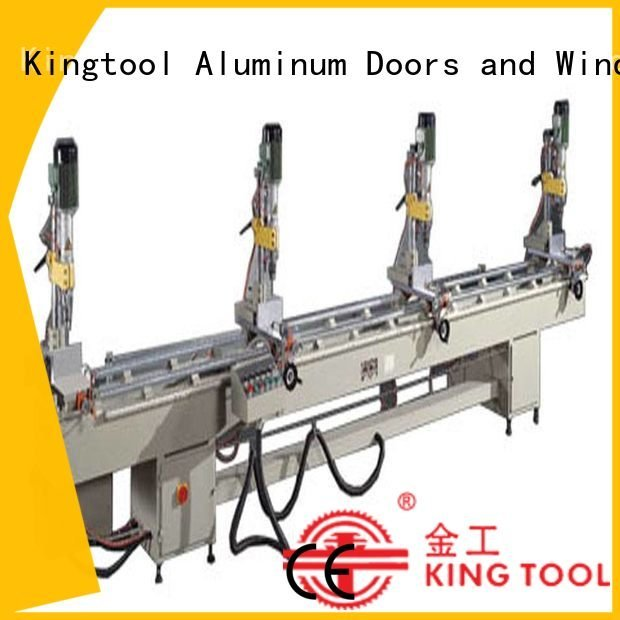 kingtool aluminium machinery aluminum multihead material drilling and milling machine pneumatic