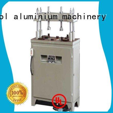 kingtool aluminium machinery aluminium punching machine double pnumatic machine