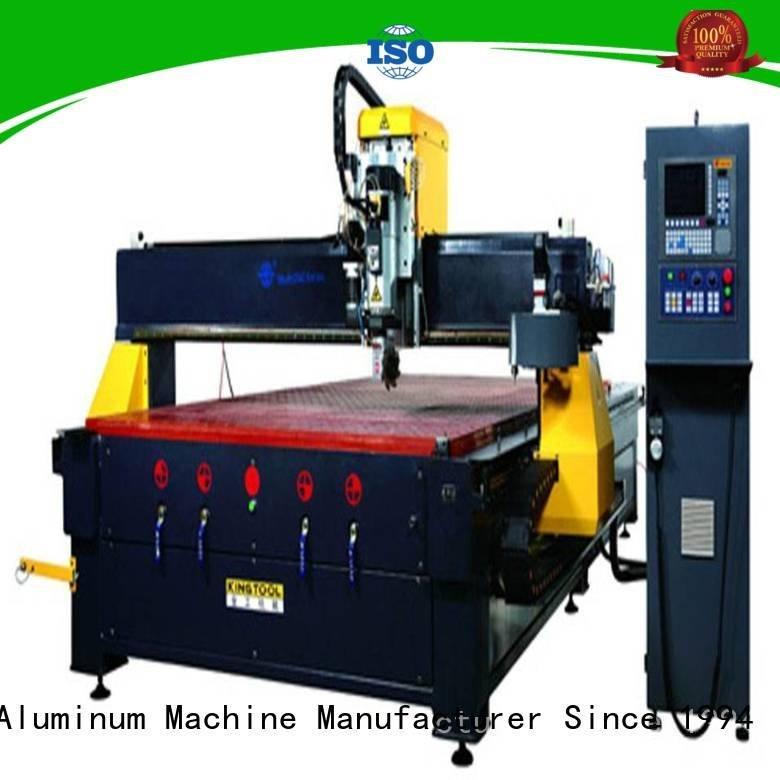 cnc router aluminum profile industrial panel kingtool aluminium machinery
