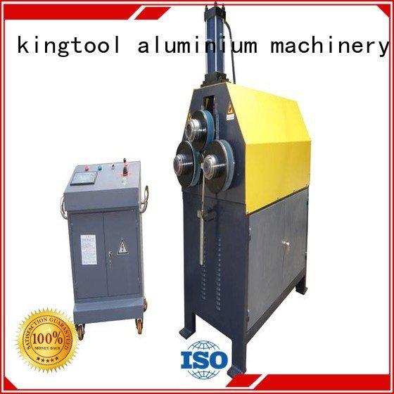 automatic 3roller cnc aluminium bending machine kingtool aluminium machinery
