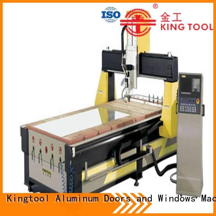 double 3axis aluminium router machine cutting kingtool aluminium machinery Brand company