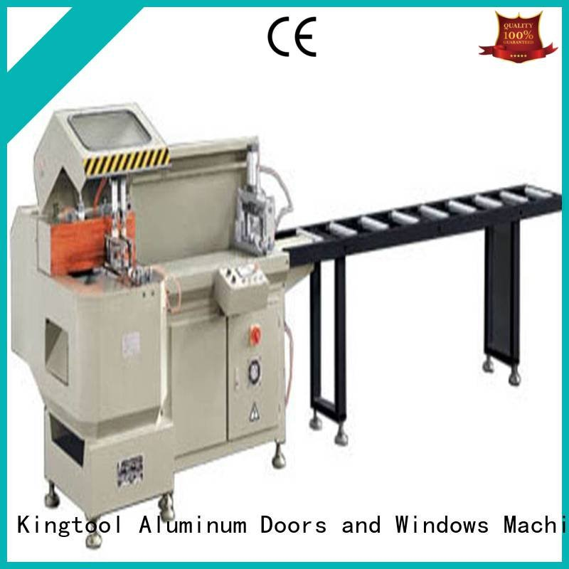 double curtain machine aluminium cutting machine kingtool aluminium machinery