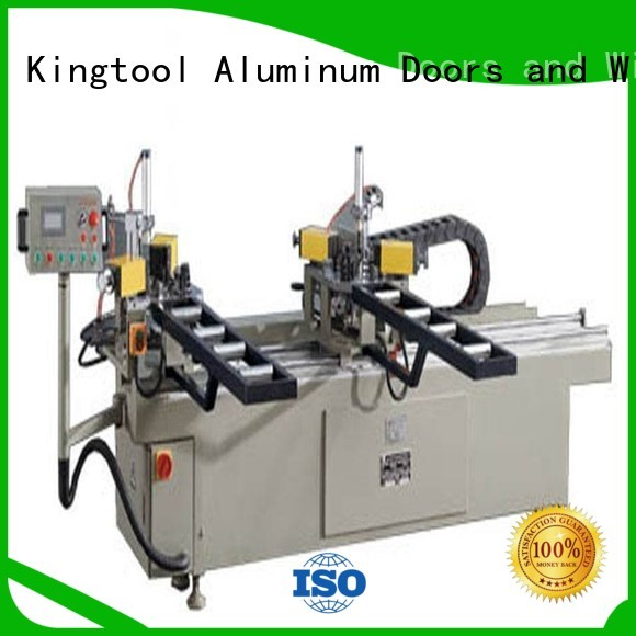 kingtool aluminium machinery Brand doubl ecorner aluminium crimping machine hermalbreak factory