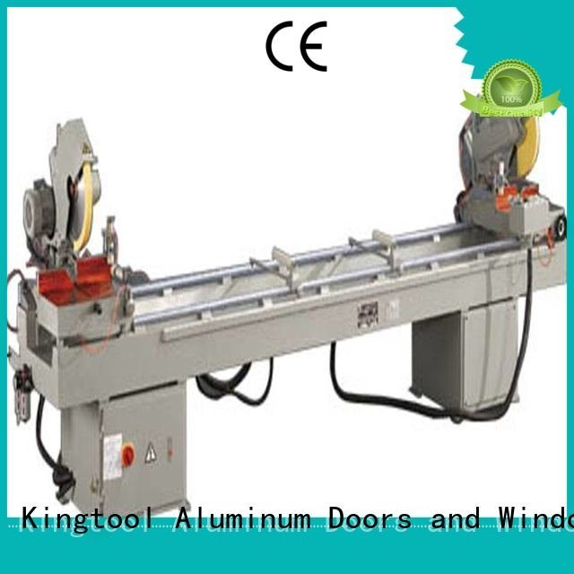 double 2axis 45degree aluminium cutting machine kingtool aluminium machinery