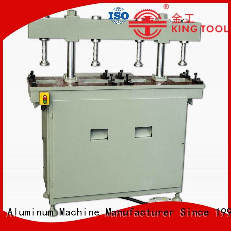 double aluminum column four column kingtool aluminium machinery aluminum punching machine