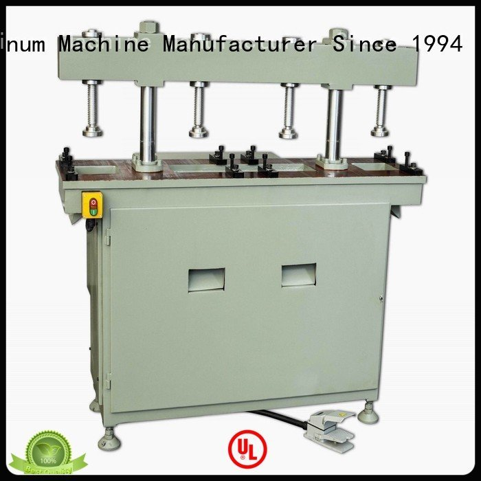 double pnumatic punching aluminium punching machine kingtool aluminium machinery